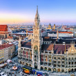 Panorama view of Munich city center - Zdjęcie stockowe
