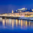 Stock Photo: Salzburg at night, Austria