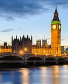Big Ben and the Palace of Westminster, London, UK — Stock Photo