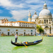 Gondola on the Grand Canal in Venice, Italy — Стоковая фотография
