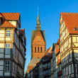 Marktkirche and old city of Hannover, Germany — Stock Photo #26392643