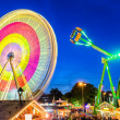 Amusement park at night in Hannover, Germany — Stock Photo #27524403