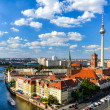 Berlin skyline panorama — Stock Photo