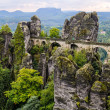 Bastei bridge in Saxon Switzerland, Germany — Stock Photo
