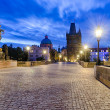Charles Bridge in Prague, Czech Republic — Stok Fotoğraf #38260305