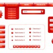 Website design elements - Imagen vectorial