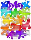 Calendar for 2013 — Stock Vector