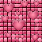 Pink pile with hearts — Stock Vector