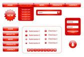 Website design elements — Stock Vector