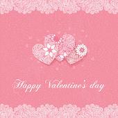 Jour de la carte de voeux de saint-valentin — Vecteur