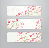 Flowers banners — Stock Vector