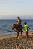 Horsebackriding in Mancora, Peru — Photo