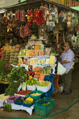 Fruit and Vegetable Stand on Market n Lima, Peru — Stock Photo