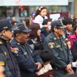 Постер, плакат: Policemen at the Wong Parade in Lima Peru