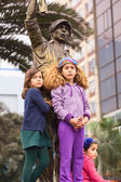 Girls at Wong Parade in Lima, Peru — Stock Photo