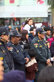 Policemen at the Wong Parade in Lima, Peru — Stock Photo