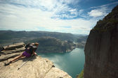 The Preikestolen in Norway — Stock Photo