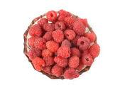 Raspberries on a plate — Zdjęcie stockowe