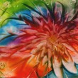 Watercolors abstract bright flower as background — 图库照片