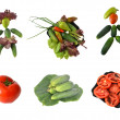 Collage from vegetables — Stock Photo