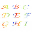 Watercolor alphabet — Stock Photo #13124443