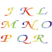 Watercolor alphabet — Stock Photo