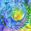 Watercolors abstract background in the manner of spirals — Stock Photo #13956541