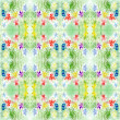 Watercolor green pattern repetition — Stock Photo
