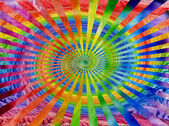 Watercolors abstract background in the manner of spirals — Stock Photo