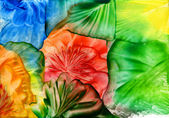 Watercolor abstract iridescent flower as background — Stock Photo