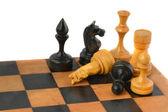 Chess game on white background — Stock Photo