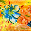 Watercolors abstract bright flower as background — Stock Photo #19104797