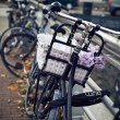 Amsterdam. street, home and bikes - Stock Photo