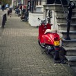 Holland, Volendam (Amsterdam), motorcycles parked — Stock Photo