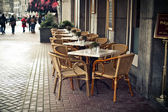 Street cafe in European town — Stock Photo