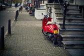Holland, Volendam (Amsterdam), motorcycles parked — Stock Photo