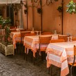 Stock Photo: Vintage outdoor restaurant in Italy