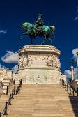 Statue of Vittorio Emanuele II — Stock Photo