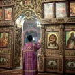 Stock Photo: Orthodox liturgy with bishop Mercury in High Monastery of Saint Peter