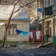 Back yard of old house in Odessa, Ukraine — Stock Photo
