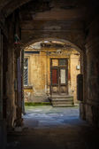 Old dark gateway in Odessa, Ukraine — Stock Photo