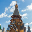 Wooden church in Izmaylovskiy Kremlin in Moscow, Russia — Stock Photo #22231517