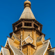 Wooden church in Izmaylovskiy Kremlin in Moscow, Russia — Stock Photo #22231529