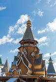 Wooden church in Izmaylovskiy Kremlin in Moscow, Russia — Stock Photo
