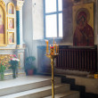 Interior of russian orthodox church — Stock Photo
