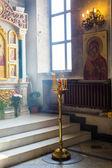 Interieur van de russisch-orthodoxe kerk — Stockfoto
