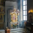 Interior of russian orthodox church - ストック写真