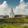 Ancient orthodox temple surrounded with beautiful flat nature — Stock fotografie