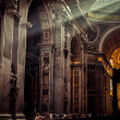 Inside the St. Peter Basilica, Vatican — Stock Photo #42844693
