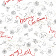 Christmas doodles pattern — Stock Photo